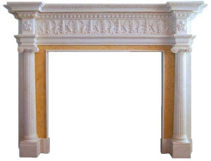 China Ionic Albany Fireplace Marble Mantel on sale