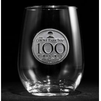 Corporate Logo Engraved Stemless Wine Glasses Corporate Logo Engraved Stemless Wine Glasses