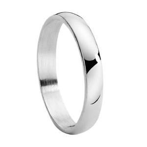China Traditional Thin Sterling Silver Wedding Band with Polished Finish 4 mm - MP1165 on sale
