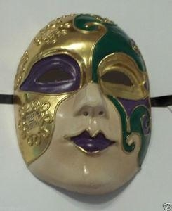 China MASKS LADIES FULL FACE PURPLE GREEN GOLD VENETIAN MARDI GRAS MASQUERADE MASK on sale