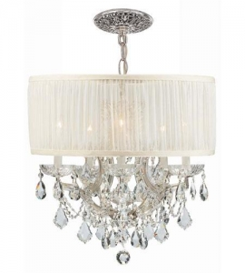 China Crystorama Brentwood 6 Light Chandelier in Polished Chrome 4415-CH-SAW-CLQ on sale