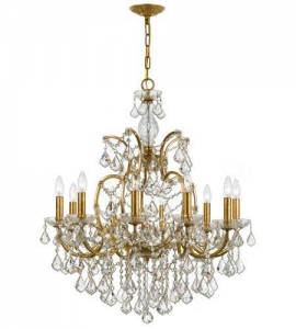 China Crystorama Filmore 10 Light Chandelier in Antique Gold 4458-GA-CL-MWP on sale