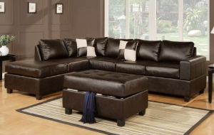 China Leather Sectional - Full Size on sale