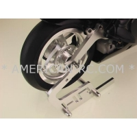 China Motorcycle Machined Aluminum Stand Silver HOR14A08 on sale
