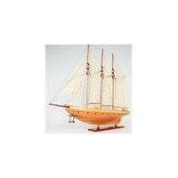 "Atlantic Yacht Wood Topsail Schooner 38"" Model 3 Masted Gaff Rigged"