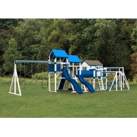 Swing Kingdom Vinyl Swing Set - SK 50 Mountain Climber [SK50]