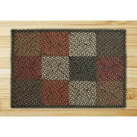 Rectangle Quilt Patch Black Sage and Ginger Jute Braided Earth Rug 2