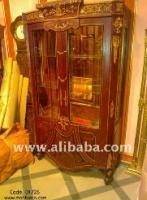 China French Empire Antique Vitrine style Hand Painted Panels, Gilt-Bronze Mounted.-Dec 4, 2011 on sale