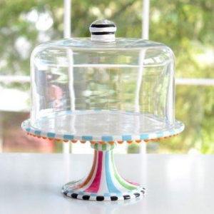 China Glitterville Covered Birthday Pedestal Cake Stand, Multi-colored, 12 Inch Tall X 11.25 Inches on sale