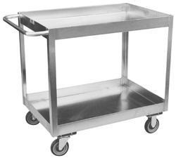 China Jamco XZ Stainless Steel 3 Deep Lipped Order Picking Cart (2 Shelves) on sale