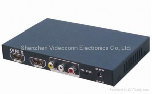 China HDMI to CVBS and HDMI Converter Supports NTSC and PAL two standard TV formats on sale