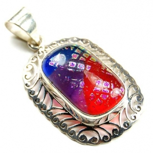 China Pendants Dichroic Glass 925 Sterling Silver Pendant 5271[5271] on sale