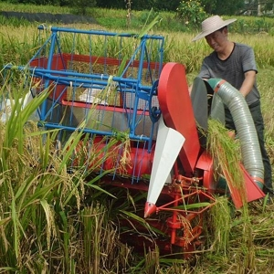 China Hand push type mini paddy harvester thresher for sale on sale