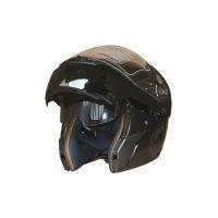 China DOT Flip Up Helmet with Internal Sunglass(618) Black on sale