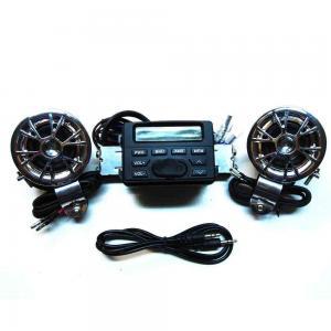 China 12V Motorcycle Radio Audio MP3 Handlebar Speaker Amplifier on sale