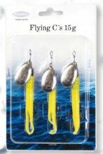 China 3 X Fladen Flying C Yellow Spinners (15G) SP13 on sale