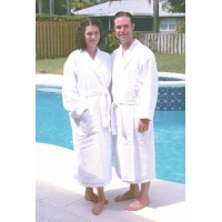 Cotton Waffle Weave/Terry Robe