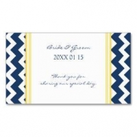 Wedding Business Cards Blue Yellow Chevron Wedding Favor Tags Business Card