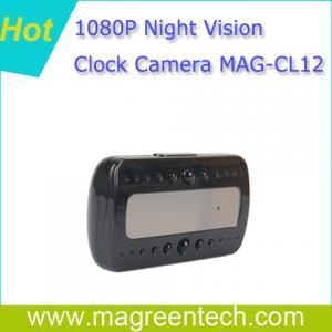 China MAG-CL12 1080P Night Vision Alarm Clock Camera on sale