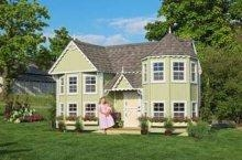 China Kids Cottages Kids Outdoor Playhouse Kit - 10x18 Wooden Sara's Victorian Mansion Style Cottage on sale