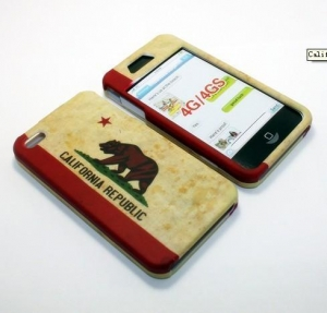 China Iphone case (BST7005)California State Flag Snap-on Hard Case For Apple iphone 4/4S on sale