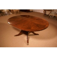 Beautiful Walnut Round/Oval 1 Leaf Conference Table