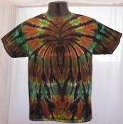 China Camo Spider Tie Dyed T Shirt on sale