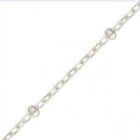 China Jewelry Findings Cable w/Bead Chain by the Foot Round (1mm links) Sterling Silver on sale