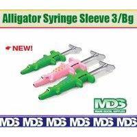 Alligator Syringe Sleevesngelus 3 per Bag.
