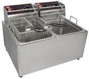 China Cutters and Fryers Electric Countertop Fryers cap 2 - 6lbs baskets on sale