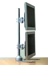 China D 198AA Dual LCD Monitor Mount -Vertical Desk Stand - Pole Mounted Brackets on sale