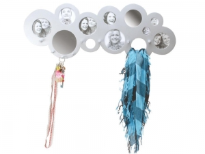 China Living PT HOME CLOUD HAT COAT RACK HOLDER HANGER WITH MIRROR PICTURE PHOTO FRAME SILVER on sale