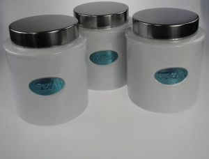 China Kitchen & Dining Modern Tea, Coffee, Sugar Canisters on sale