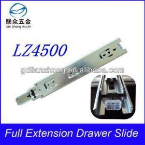 China 45MM 3-fold drawer slide metal table hardware slide on sale