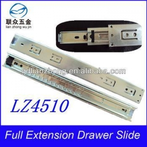 China 45MM 3-fold drawer slide double dtc kitchen cabinet drawer slides on sale