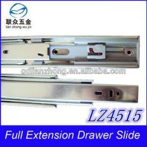 China 45MM 3-fold drawer slide furniture soft close drawer slides on sale