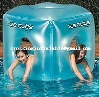 China water sport products inflatable ice cube toy for kids on sale