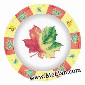 China Custom Printed Melamine Plates on sale