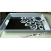 China Melamine Tray with handles for sale