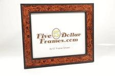 China Value Picture Frames Italian Burl w/Black Back Picture Frame on sale