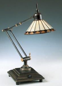 China Tiffany Table Lamps Pueblo Swing Arm Desk Lamp - 26.5H on sale