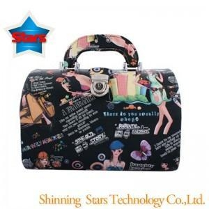 China New Style Jewelry Boxes Beauty Girl PU Leather Wholesale Portable Jewelry Case on sale