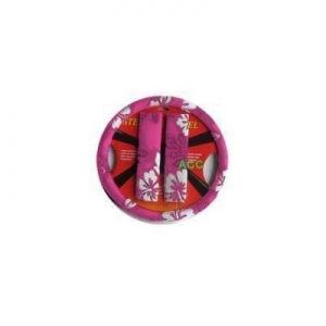 China 3PC Steering Wheel Cover w/ Shoulder Belt Pads - Car Truck SUV - Hawaiian Hibiscus - Pink on sale