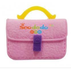 China Girl Eraser Fancy Pink Ms briefcase Shaped Eraser on sale