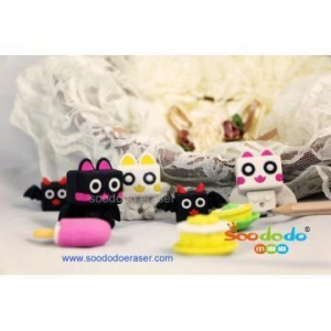 China 3D various customized animal shaped erasers on sale