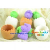 China Green Dinosaur Egg Shaped Eraser on sale