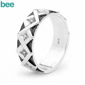 China 925 Sterling Silver Gents Oxidized Men's dress ring 35360 on sale