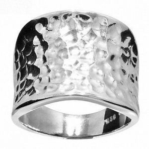 China 925 Sterling Silver Design Band Ring Size P 7.75 35130 on sale