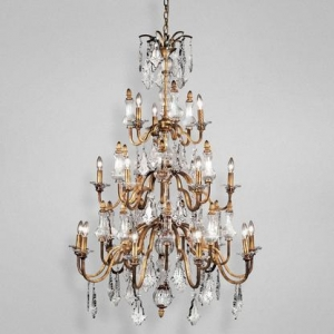 China Adivina Antique Crystal 18 Light Chandelier on sale