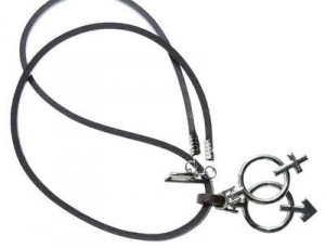 China N1 Gender Necklace Leather Made on sale